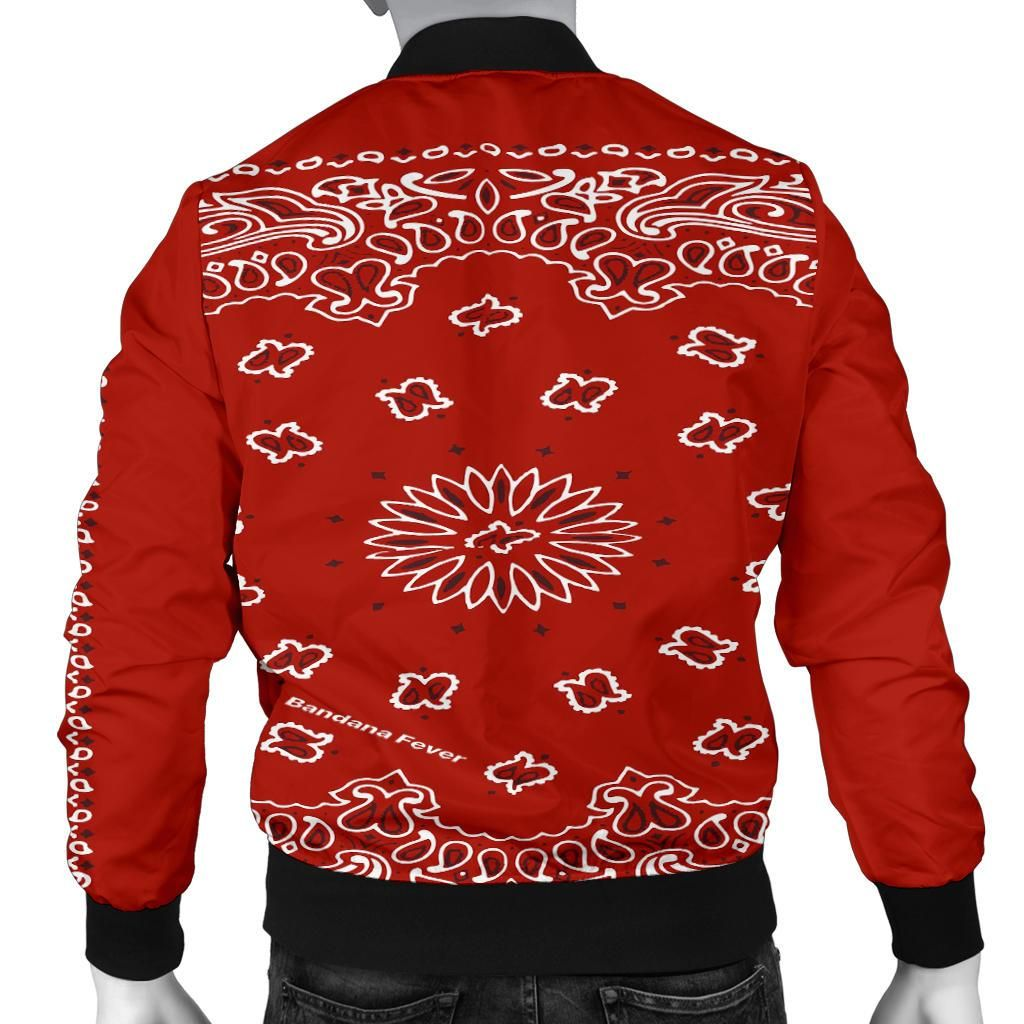 Red Bandana Paisley Print Custom Men S Jacket Bandana Fever Red Bandana Paisley Jacket Mens Jackets [ 1024 x 1024 Pixel ]