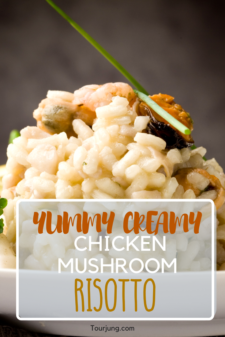 Creamy Chicken With Mushroom Risotto Recipe Thai Fusion Recipe Mushroom Risotto Recipes Chicken Mushroom Risotto Recipe Mushroom Risotto