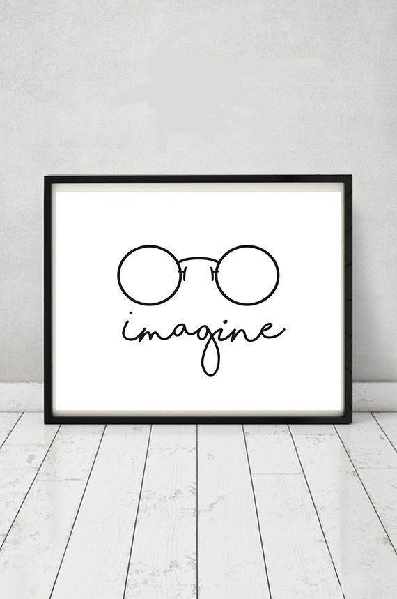 f2e1bde0739b John Lennon poster Imagine poster Beatles by MGDigitalHippie