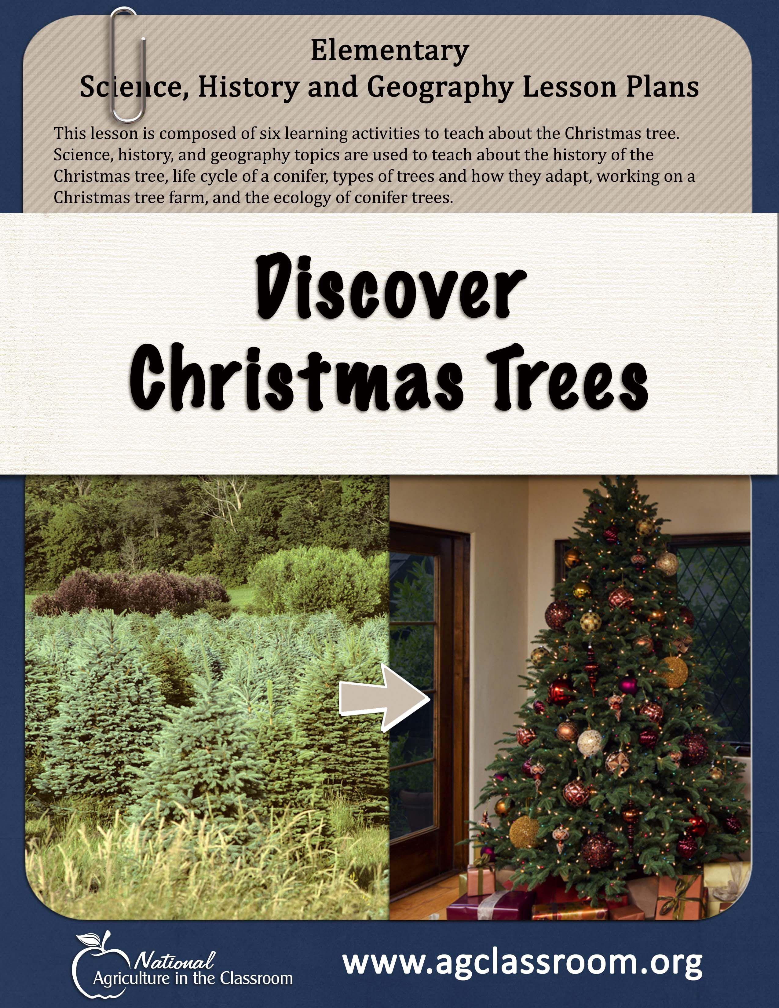 Elementary Lesson Plan All About Christmas Trees Integrates Science Geography And History Standards Elementary Lesson Plans Plant Lessons Geography Lessons