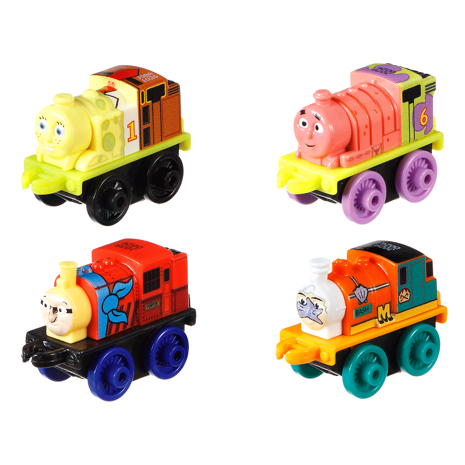 thomas u0026 friends minis spongebob 4 pack 7 drd33 fisher price