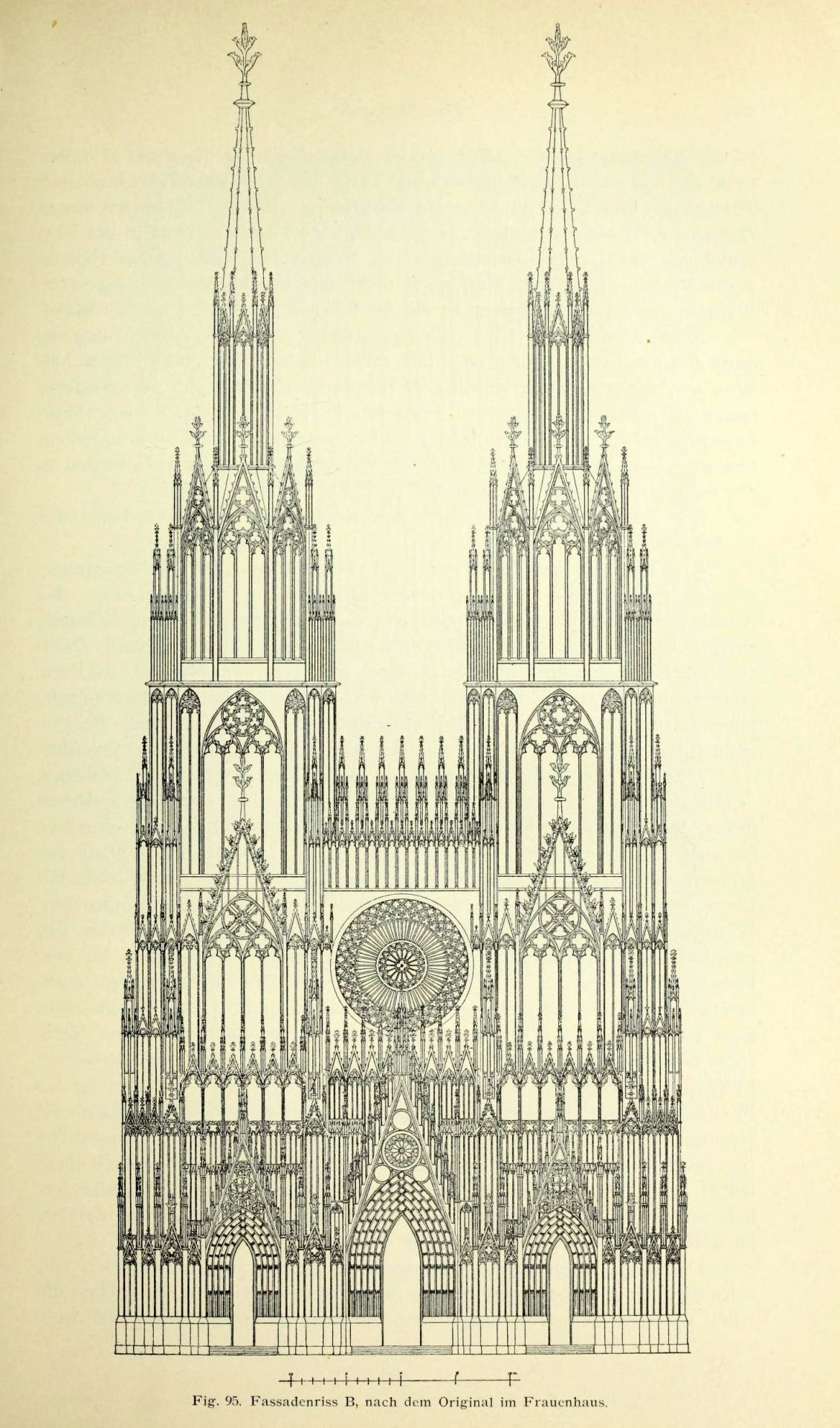 Design For The Front Elevation Of The Cathedral Strasbourg Cathedral Architecture Architecture Illustration Gothic Architecture