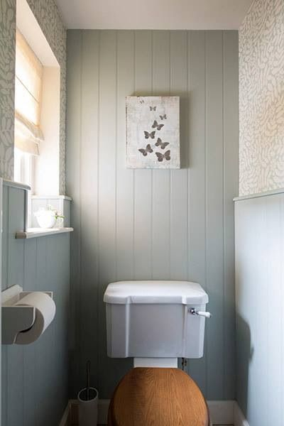 Country Cloakroom In Duck Egg Blue Small Downstairs Toilet Small Toilet Room Small Bathroom Styles