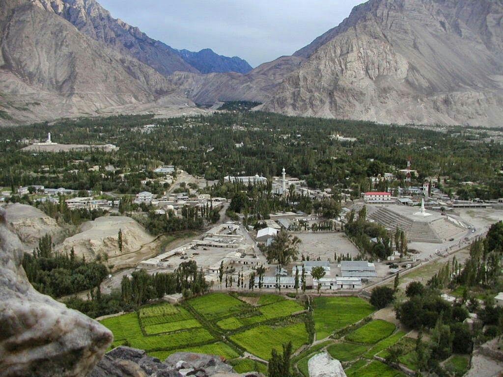 Beautiful Skardu City Gilgit Pakistan
