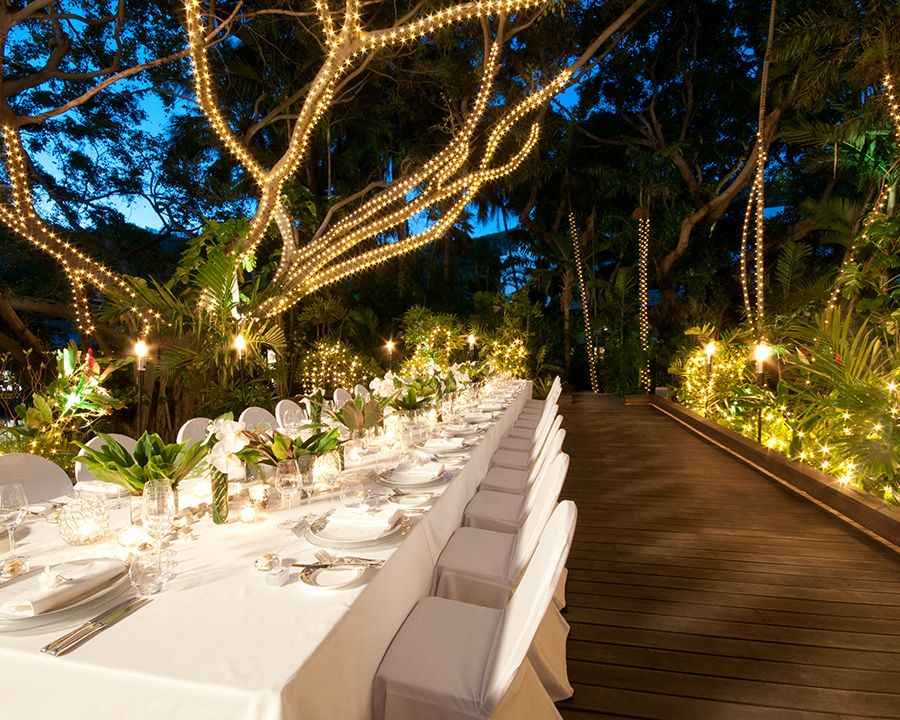 Wedding Event Evening Rainforest Grove One Hayman Island Australia