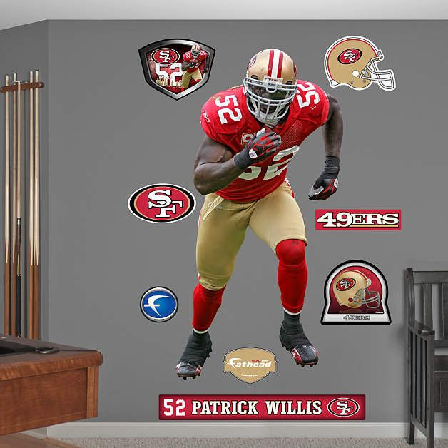 Fathead San Francisco 49ers Patrick Willis Decal   Wall Sticker Outlet Part 96