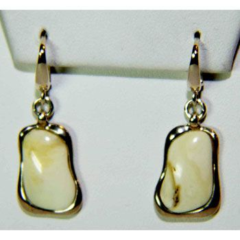 Sterling Silver Erscotch Baltic Amber Earrings