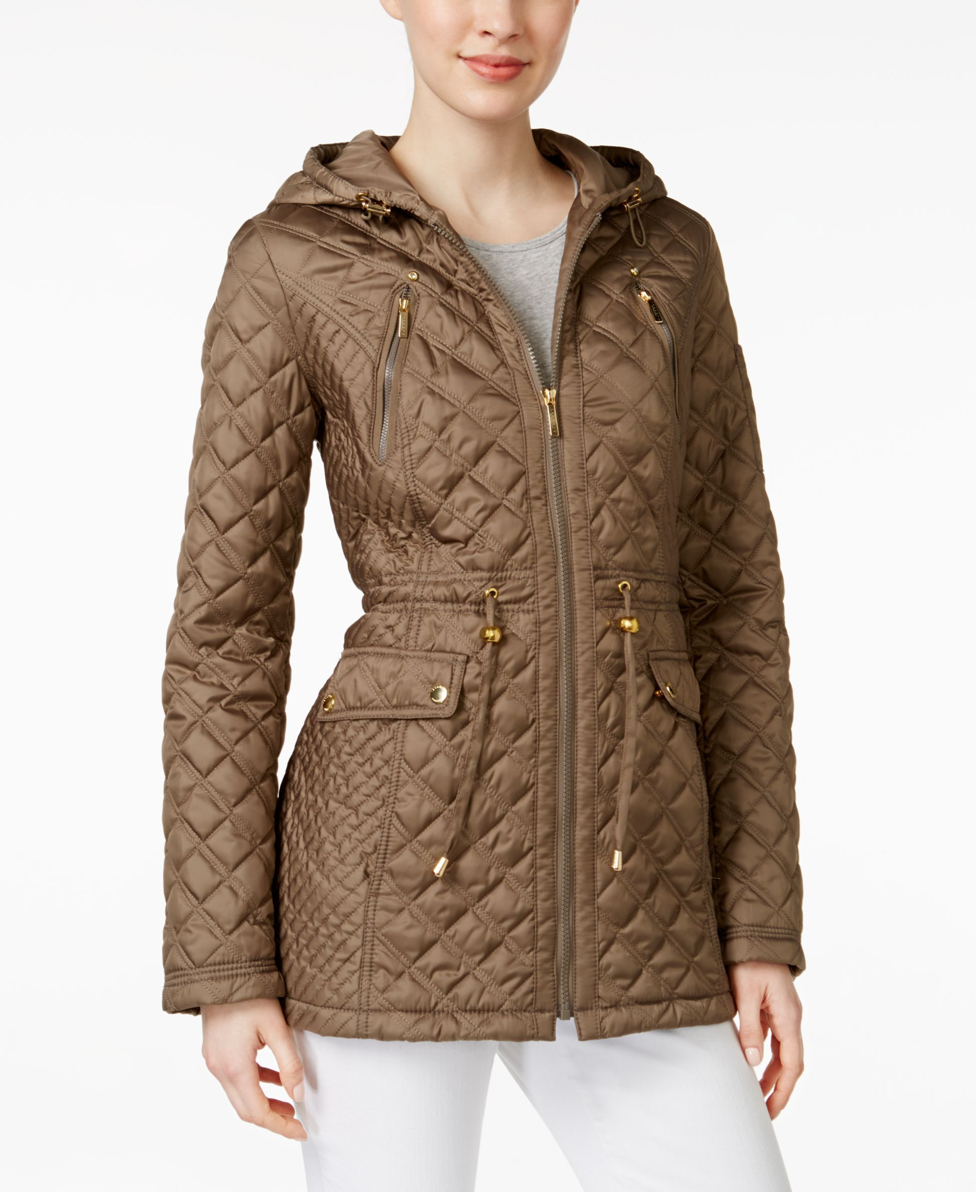 Laundry by Shelli Segal Petite Hooded Quilted Anorak Jacket