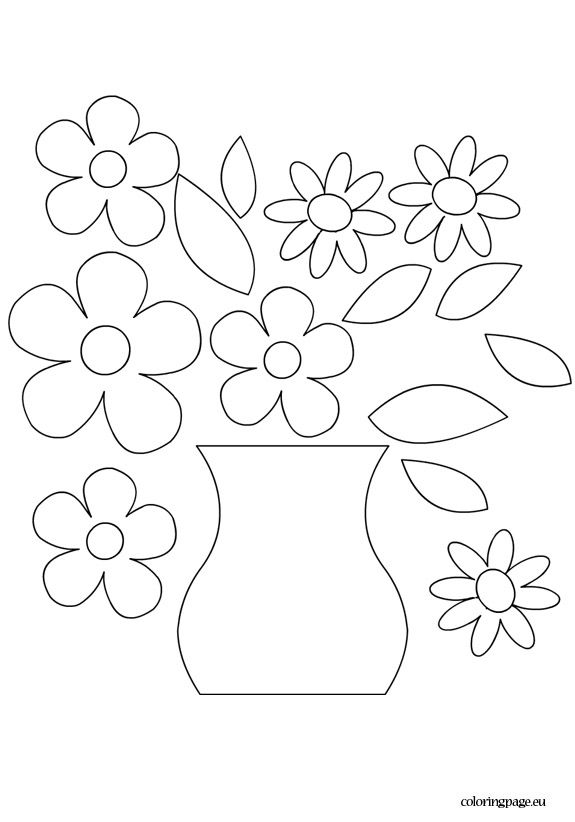 Flower Vase Template Vase Crafts Flower Printable Flower Template