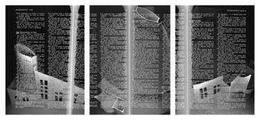 Onde se ganha o pão  gravura digital - tríptico 30x64,5cm 2002