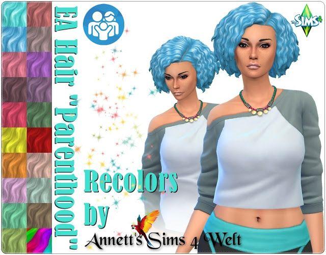 Sims 4 CC\'s - The Best: EA Hair \