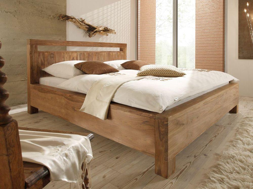 Ehebett 180x200 Massiv Holz Palisander Natur Doppelbett Holzbett