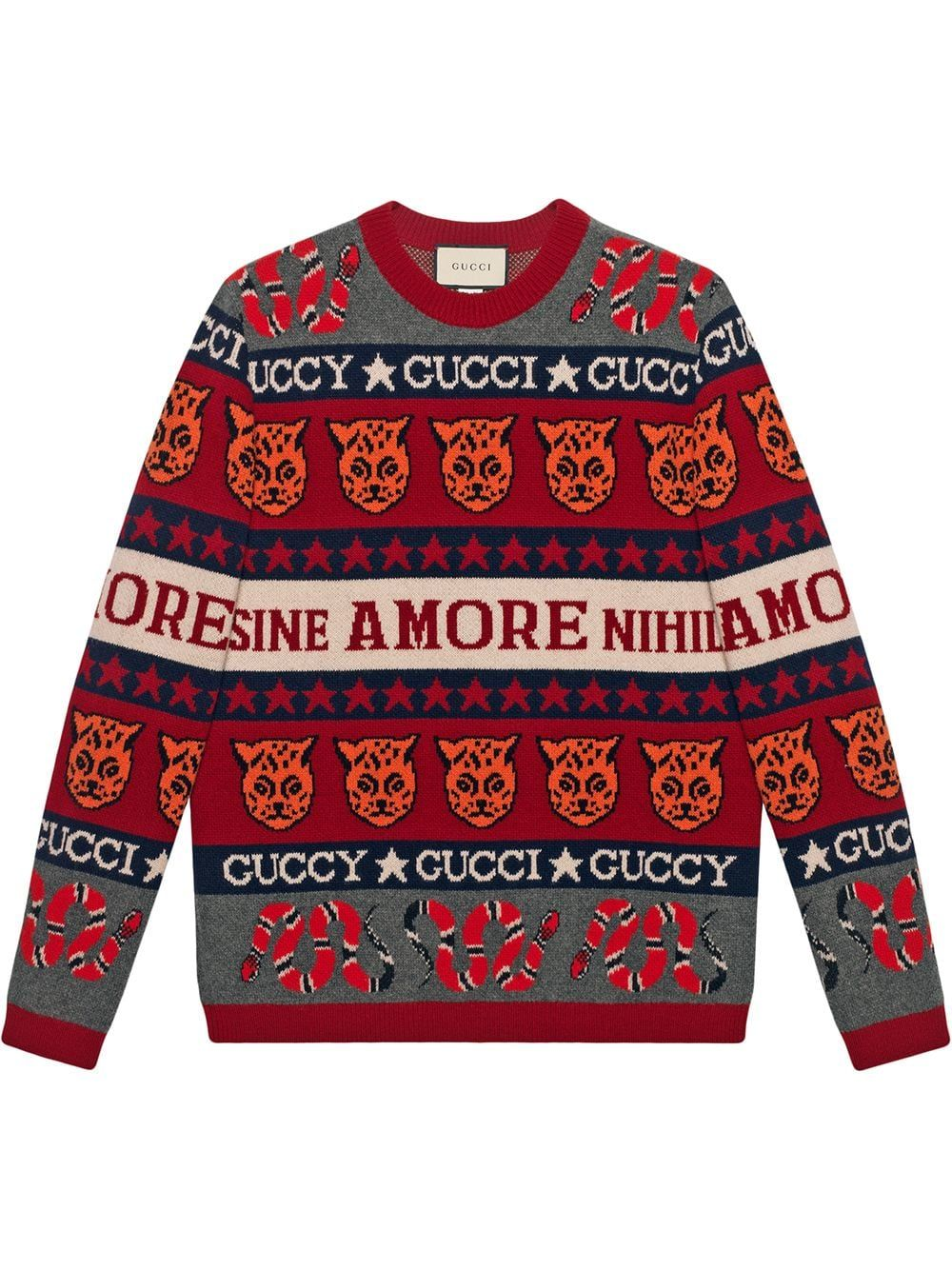 9f9375647 GUCCI GUCCI SYMBOL JACQUARD JUMPER - RED. #gucci #cloth | Gucci ...
