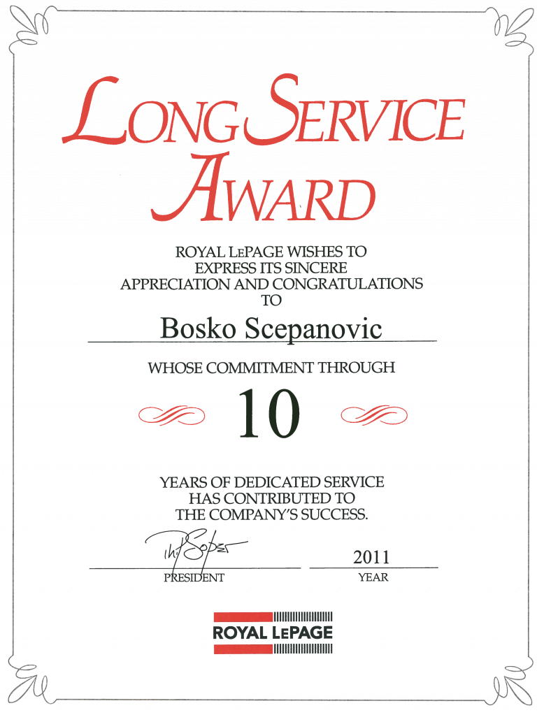 Long Service Certificate Template Sample 1 Professional Templates