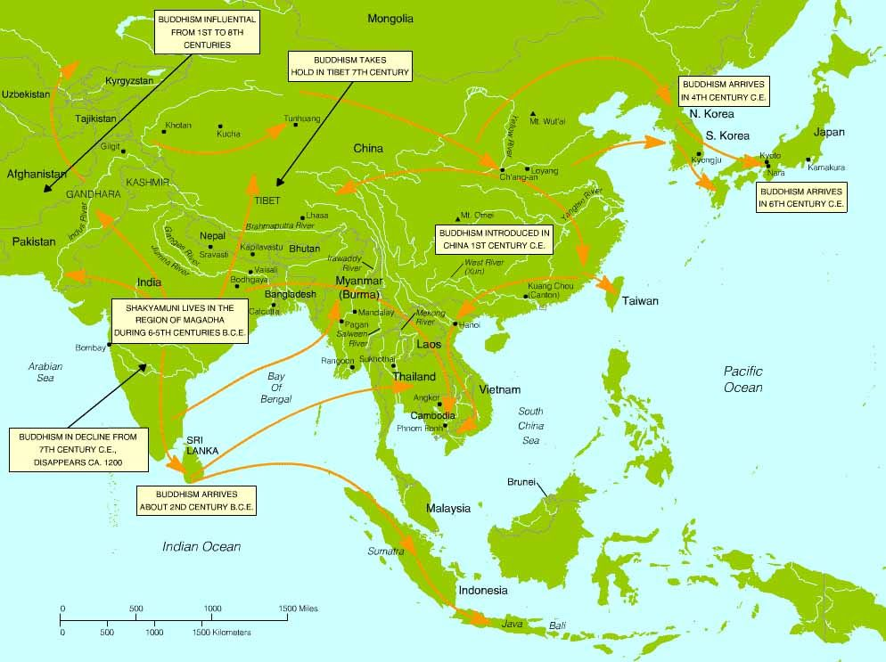 The spread & influence of Buddhism in Asia | Simple And ...