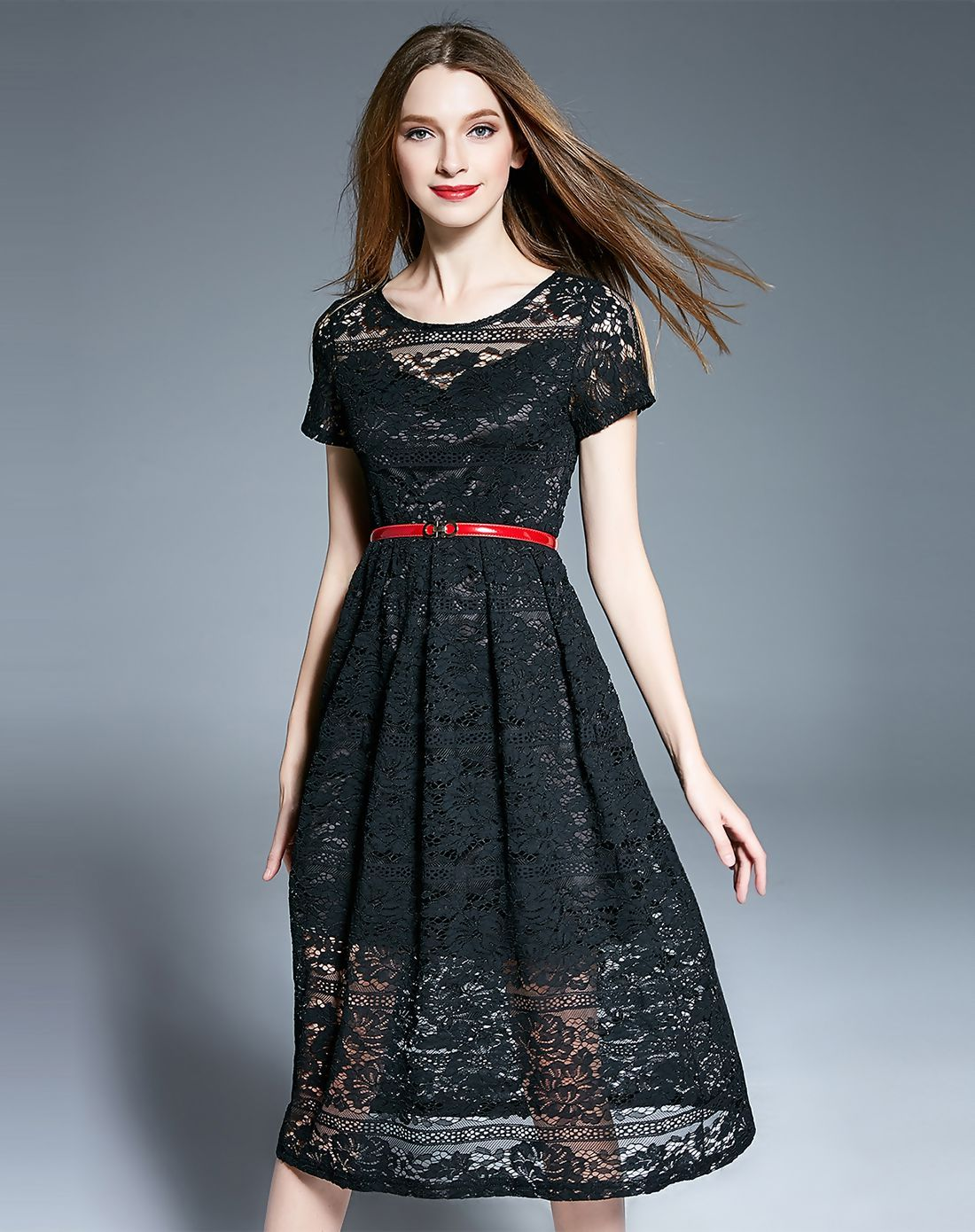 Lovely Black Lace Cocktail Dresses With Sleeves Ideas - Wedding ...