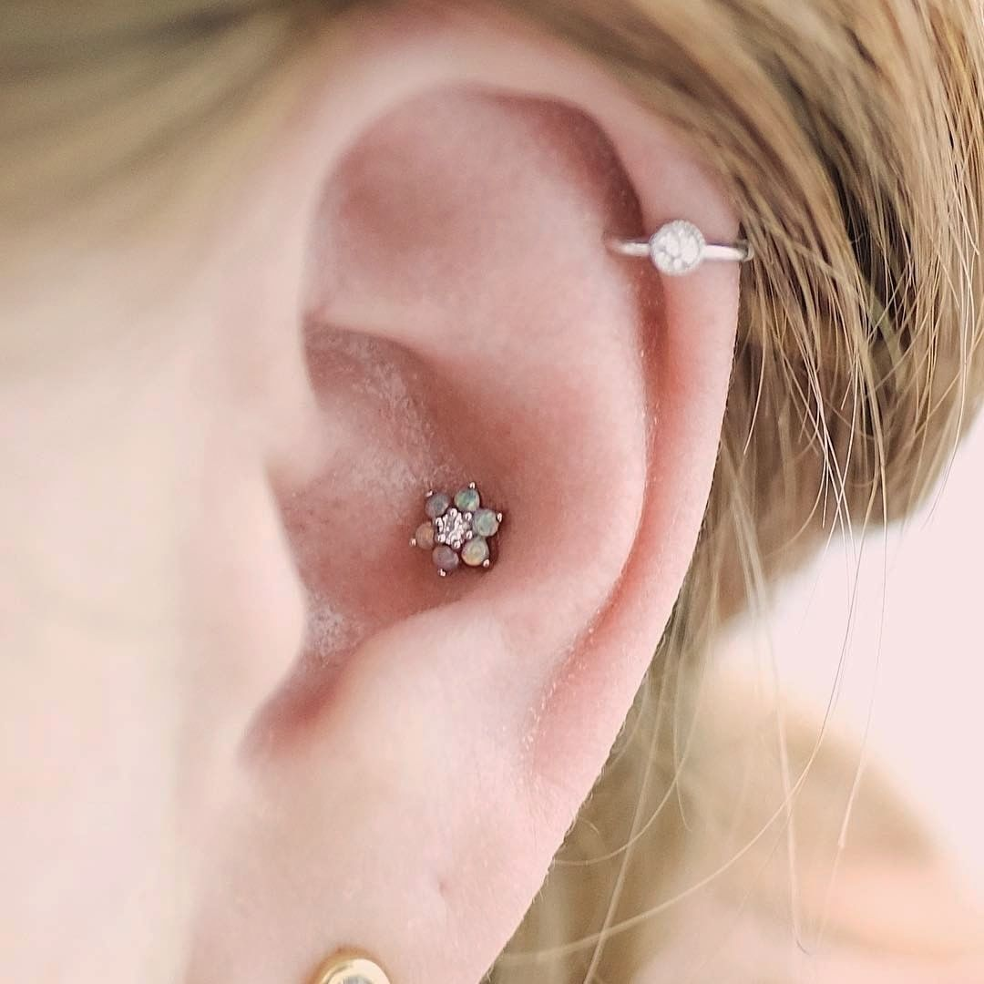 ca15b8a5948f3 Opal flower garland by Maria Tash, helix piercing | Tattoos and ...