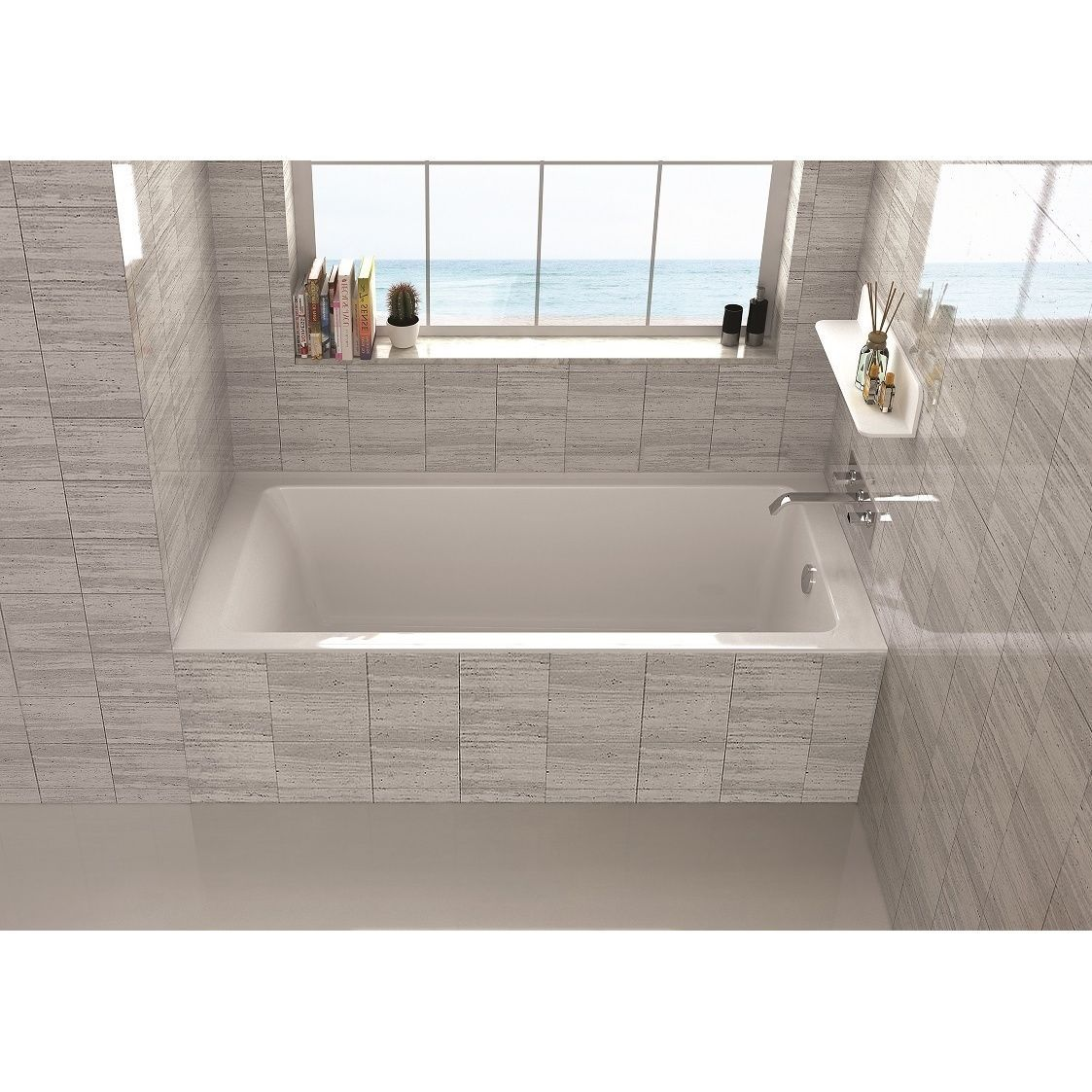 Lose Yourself In The Tranquility Of This Fine Fixtures Bathtub. Its Alcove  Design With Spacious Interior Makes It A True Pleasure To Soak In.