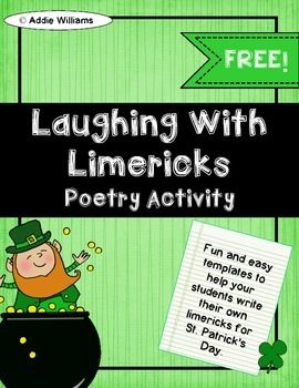 st patricks day limericks free and fun templates for students to complete limericks for st patricks day includes limerick information sheet - 30 Limerick Examples Funny Cooperative