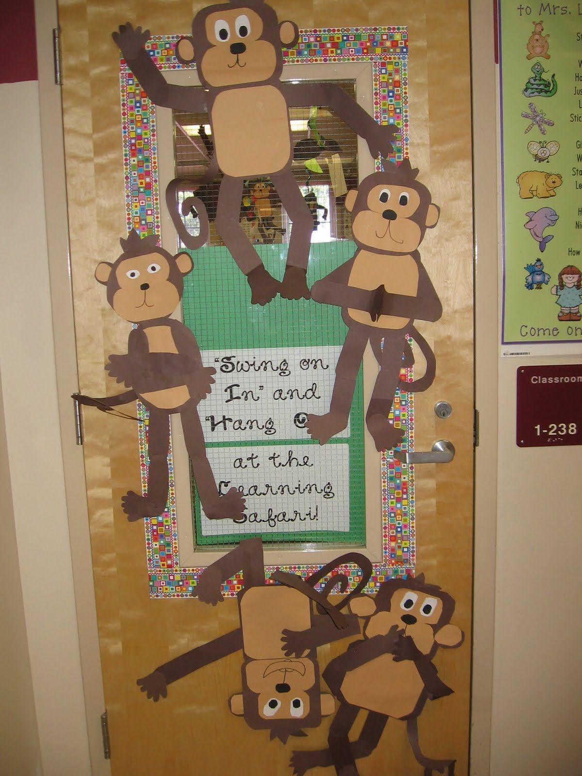 Cute Monkey Door