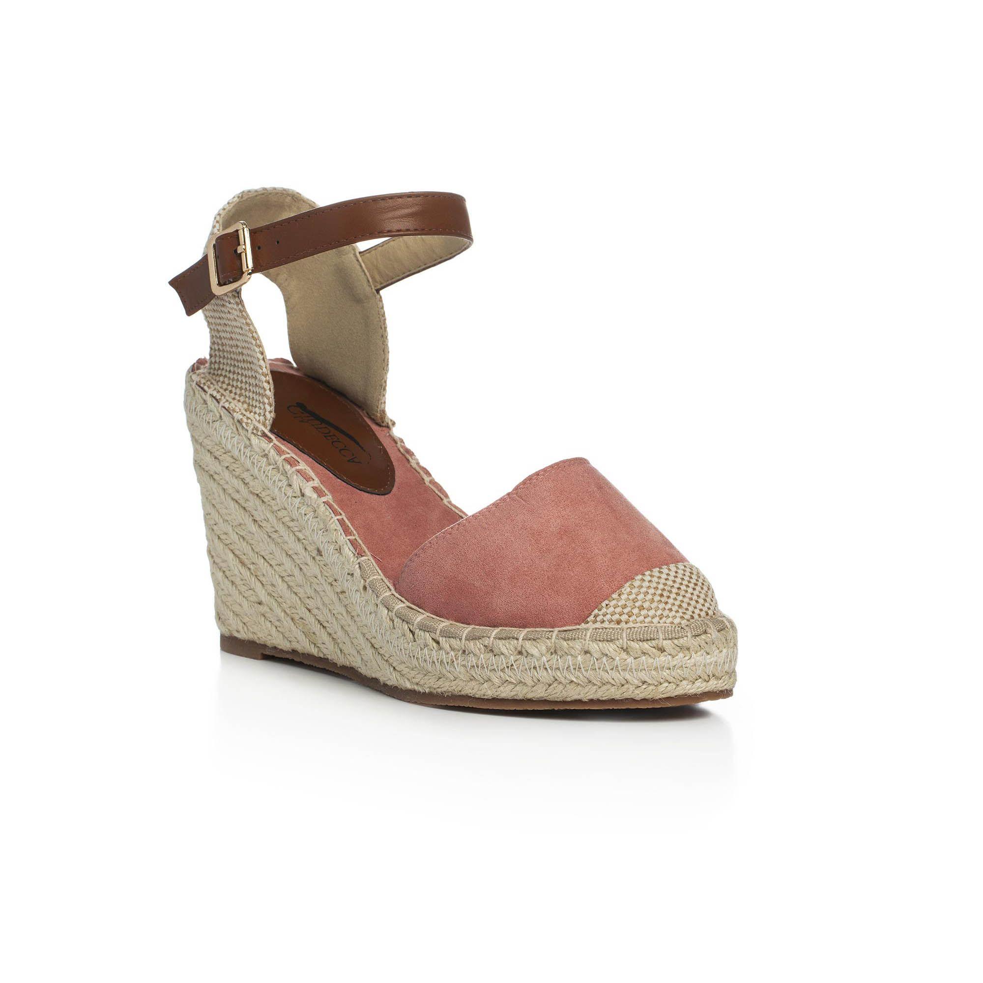 Zeppa In Suede Pittarosso Sandalo Con Color Ss16 RosaWardrobe R5jqc34AL