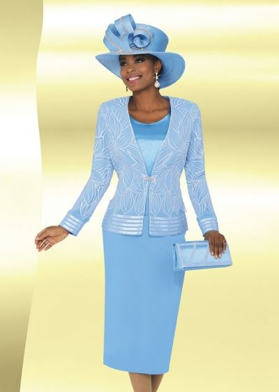 a1c77fa8a94 Ben Marc 47763 Womens Sheer Church Suit with Hat- Women s three piece sheer church  suit features a 24 inch jacket and 32 inch skirt. Matching hat included.