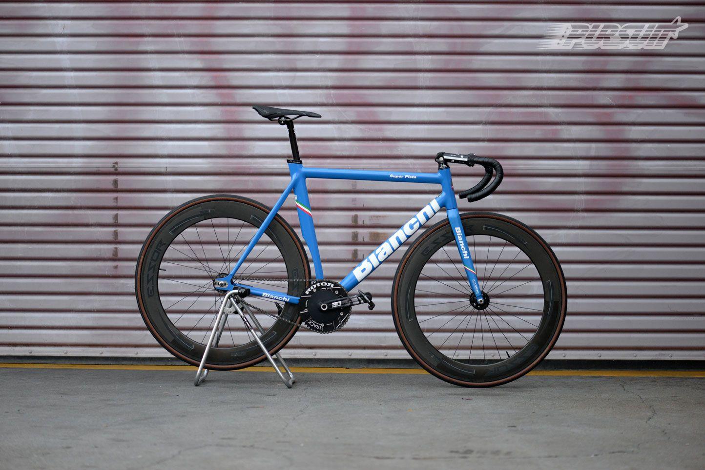 Pursuit Bicycles - Azzurro Blue Bianchi Super Pista