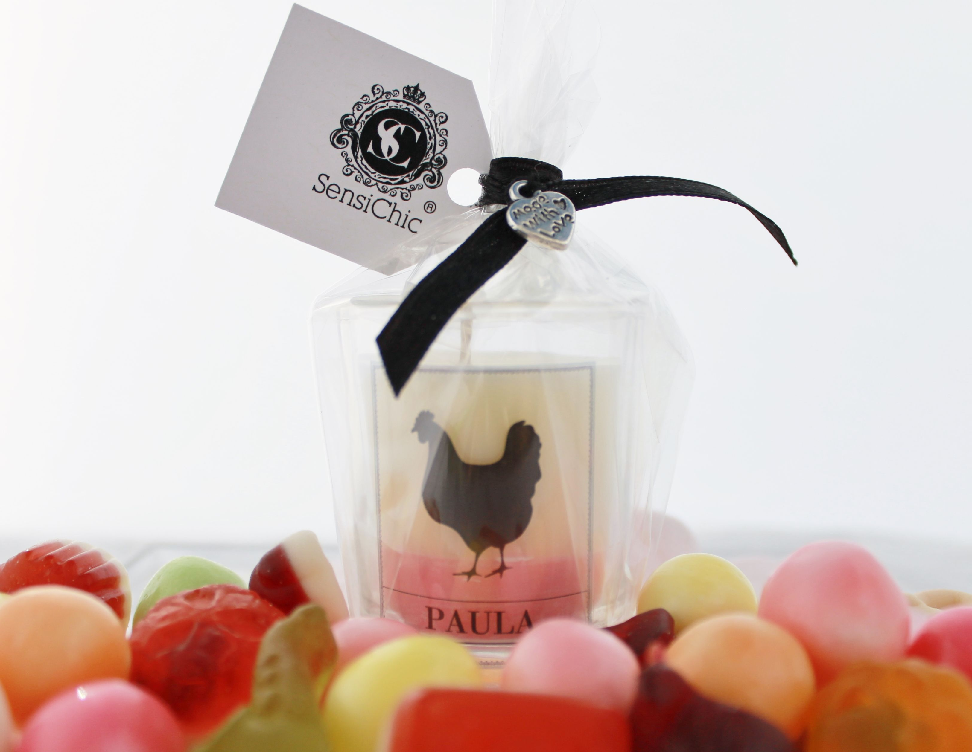 Bespoke miniature Hen Do favours/bomboniere candle. Minimum order of ...
