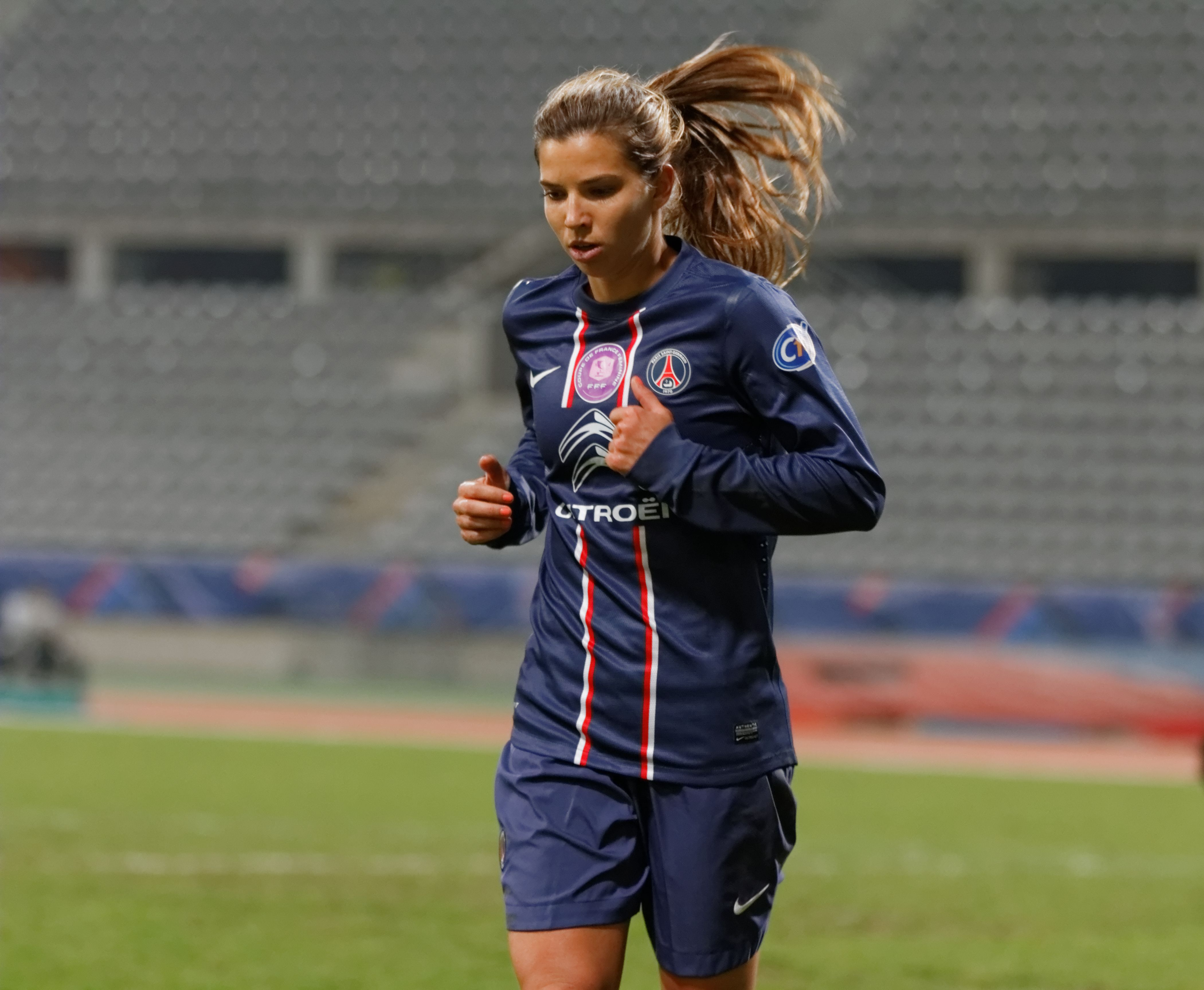 Tobin Heath playing for PSG