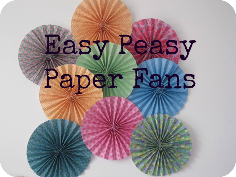 diy paper fans for less than the cost of a mars bar! | photo ideas