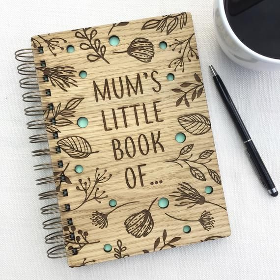 PERSONALISED Mums Wooden A5 Notebook - Mum's Little Book Of... - different colours available - Gift for Mum Birthday Christmas Mothers Day #mumsetc