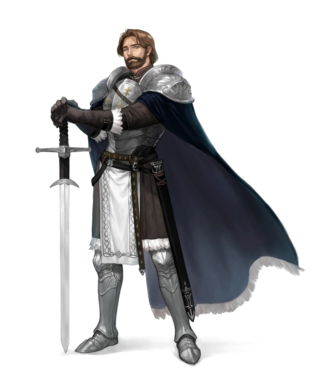 Male Human Fighter Knight Paladin - Pathfinder PFRPG DND D&D 3.5 5E 5th ed d20 fantasy ...