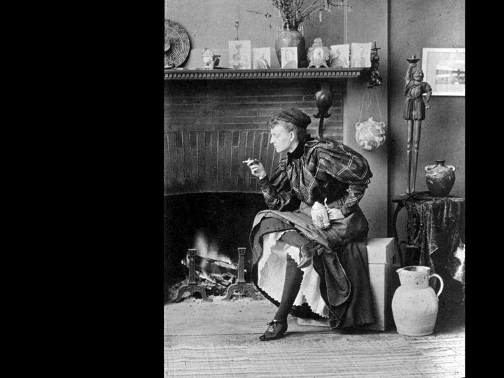 . Frances Benjamin Johnston, Self-Portrait, c. 1896 KNOW DATE