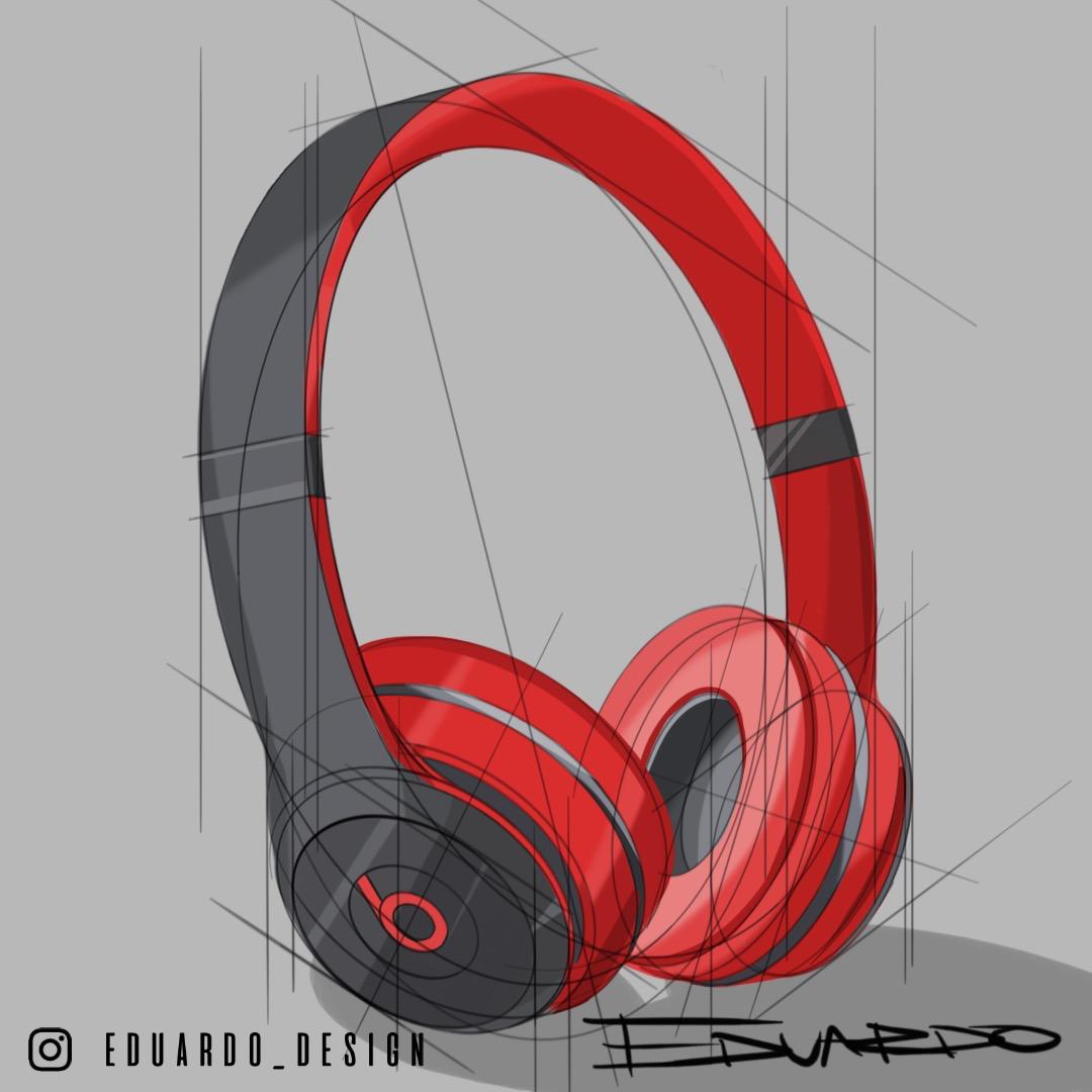 Headphones Sketch.ID sketch, sketchbook, sketches, product design, industrial design, product, sketching, industrial design, art, illustration, artwork, concept, render.