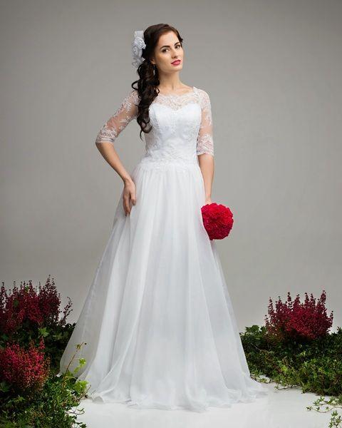 Brautkleid Casmir mit Spitzenärmel von Elegance-Fashion auf DaWanda.com