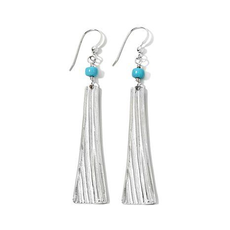 """Jay King Turquoise Sterling Silver """"Chime"""" Earrings"""