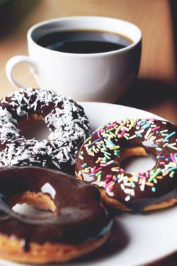 Pin By Abby Jane Taylor On Desserts Coffee Donuts Food Chocolate Coffee