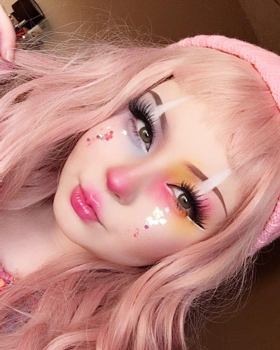 cute cuteclownmakeup pinkhair clownmakeup pretty