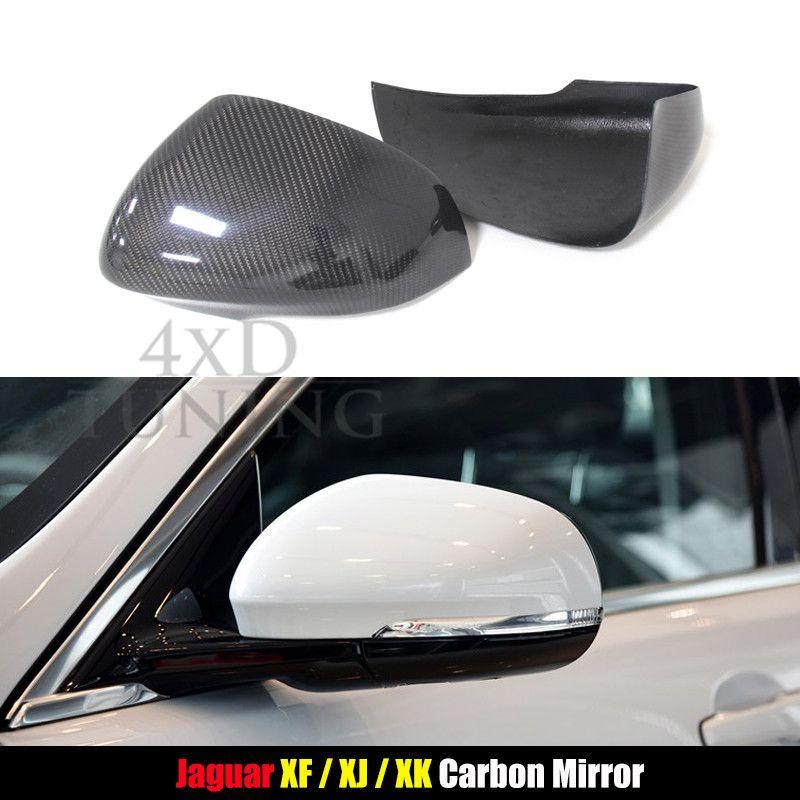 For Jaguar Xk Xf Xj Xkr 2011 2012 2013 2014 Carbon Fiber Mirror Cover Rear Side View Add On Style Jaguar Xf Jaguar Xe Jaguar