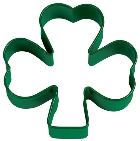 Leprechauns and party guests alike will love your shamrock cookies for St. Patrick's Day! This green St. Patrick's Shamrock Cookie Cutter is approximately 3 inches and can be also used to cut special shamrock shapes into sandwiches, cupcakes, and other treats. Additional St. Patty's day baking supplies are available and sold separately.