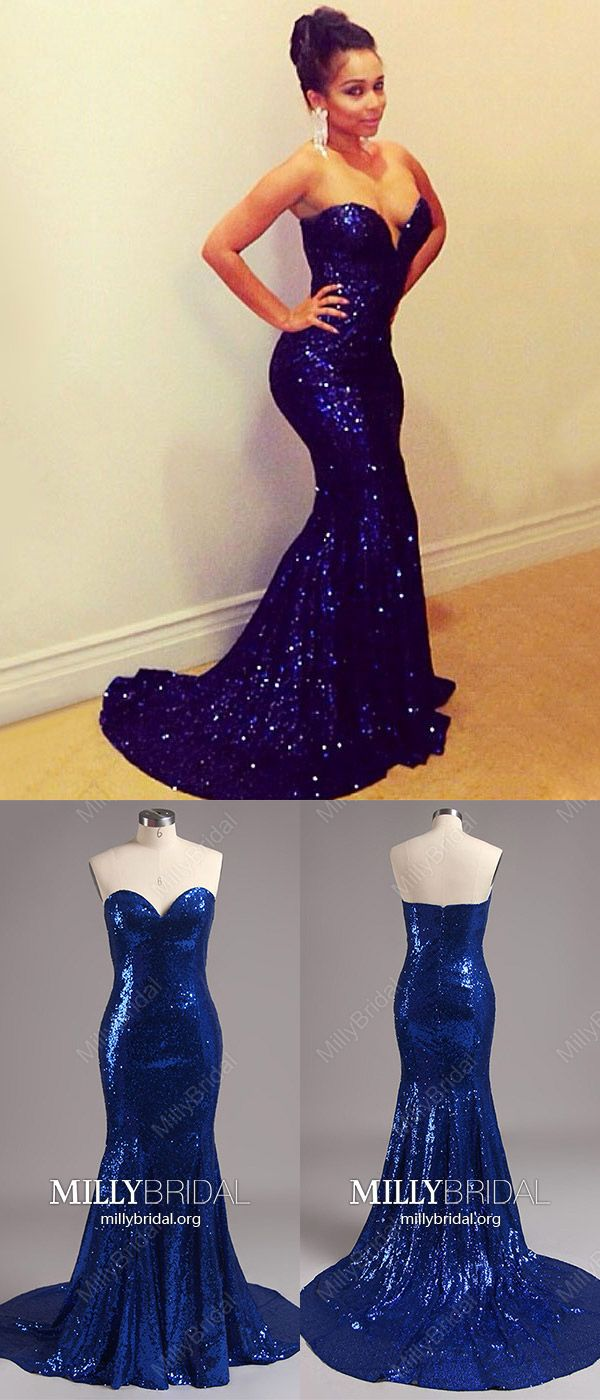 Sparkly prom dresses longroyal blue formal evening dresses