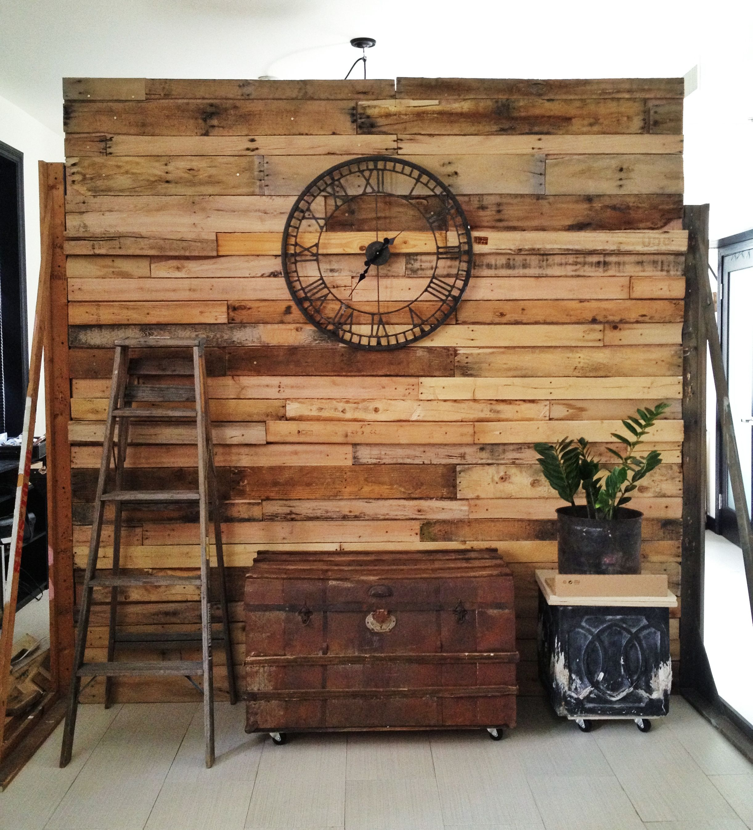 How To Separate A Room Without A Wall My New Wall Partition To Separate My Bedroom Used Pallet Wood For
