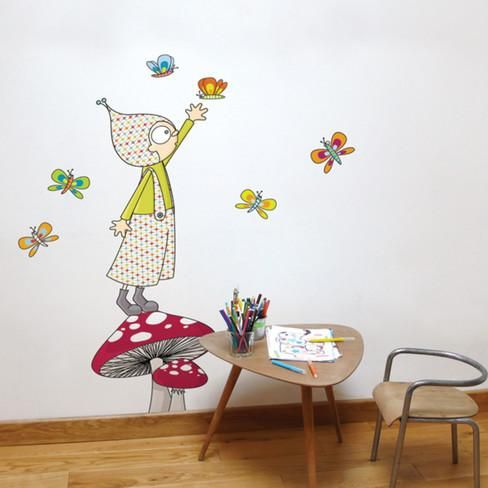 Jules Wall Decal Wall Decal Kids Wall Decals Wall Decals Wall