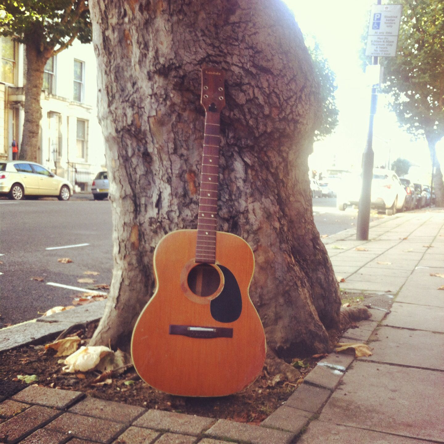 The Day The Music Died. Random Abandoned Guitar