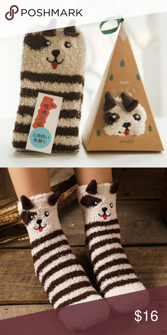 Socks Fun Cute Cozy Warm Fuzzy Animals For Kids