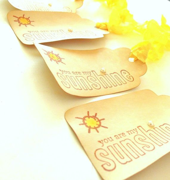 Vintage Inspired You are My Sunshine Gift Tags Set of by matdi123