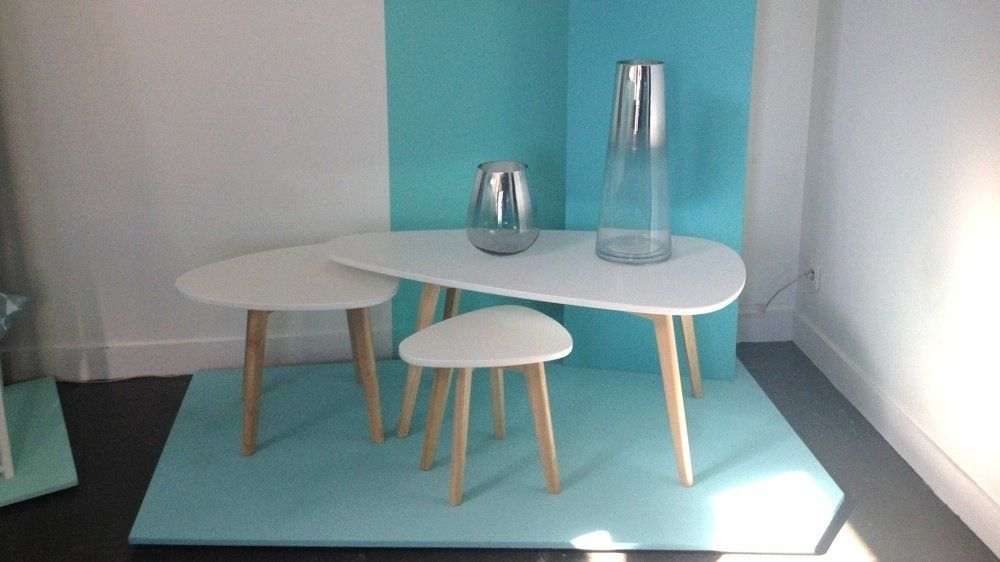 tables gigognes blanches conforama 139 petite deco Pinterest