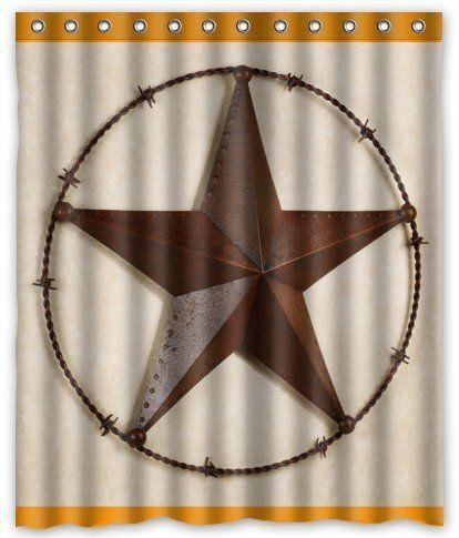 Creative Bath Products Western Texas Star Shower Curtain 60 X 72