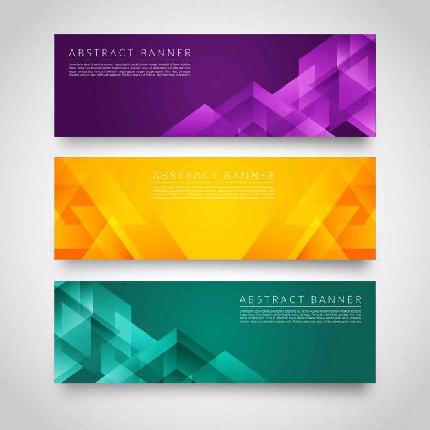 Abstract Colorful Modern Geometric Banners Background Design