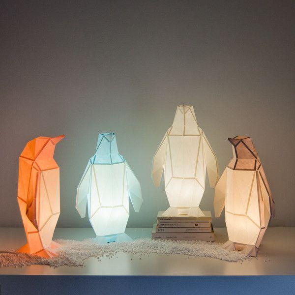 Lampenschirme Klein Pinguin Diy Farben Papier Lampe Ein